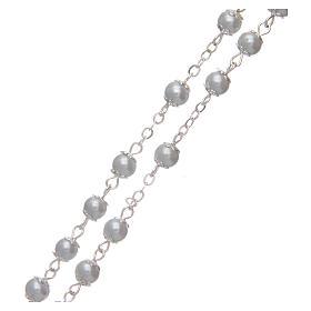 Rosario imitazione perla bianco 5 mm con coppiglie s3