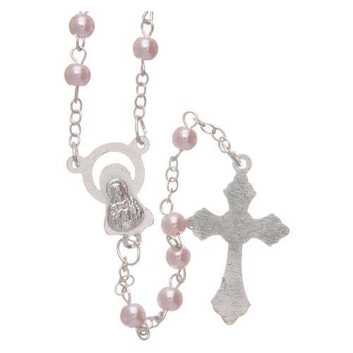 Rosario imitación perla color rosa 4 mm 2