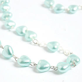 Heart-shaped beads pearled rosary s3