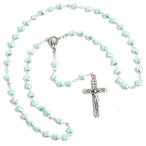 Heart-shaped beads pearled rosary 2