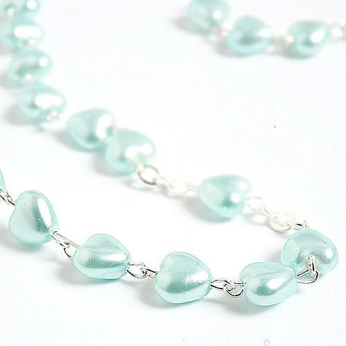 Rosario símil perla encerada corazón 3