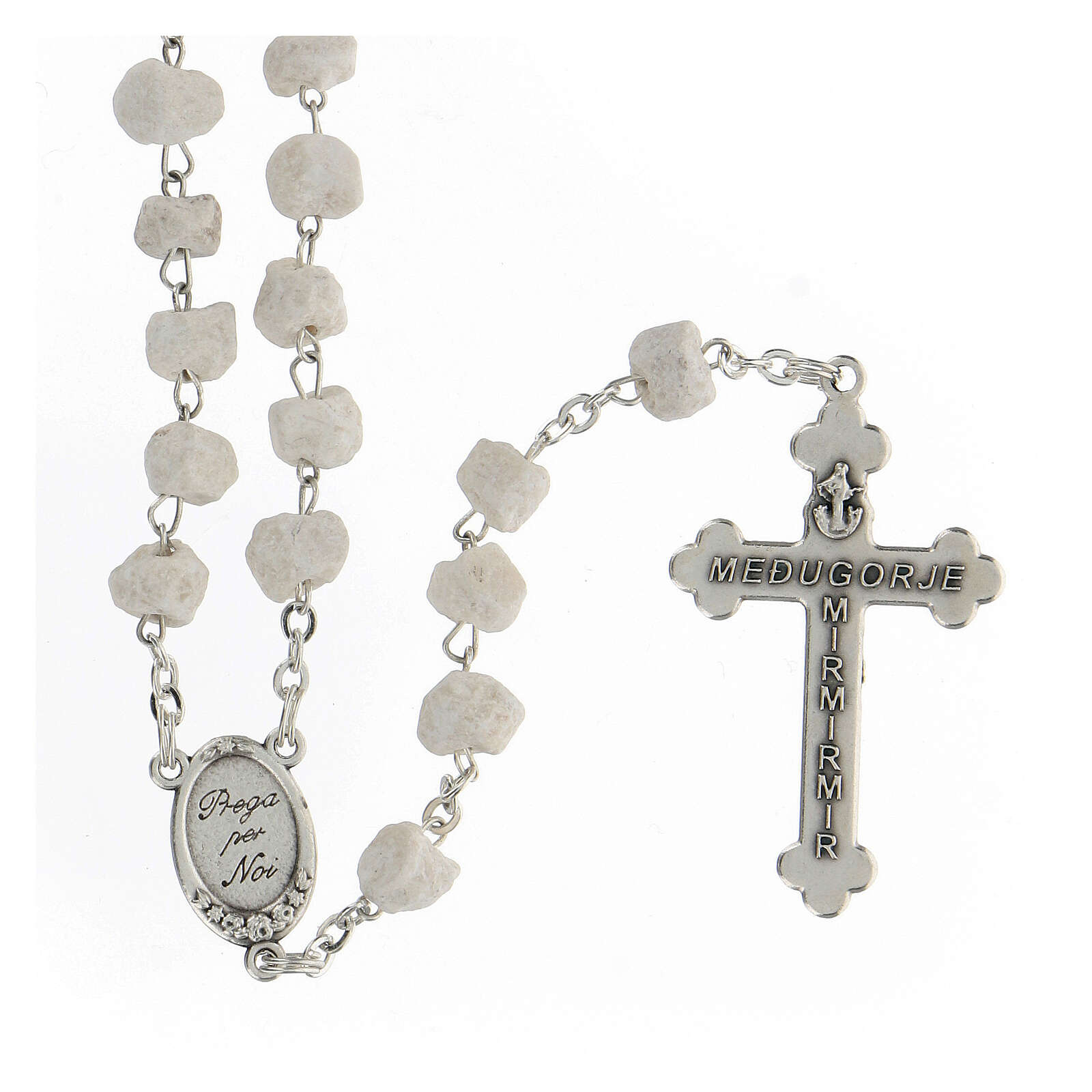 Rosary beads Medjugorje stone Mary and Jesus 4