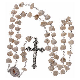 Rosary beads Medjugorje stone Mary and Jesus s4
