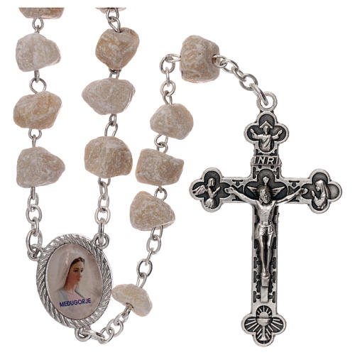 Rosary beads Medjugorje stone Mary and Jesus 1