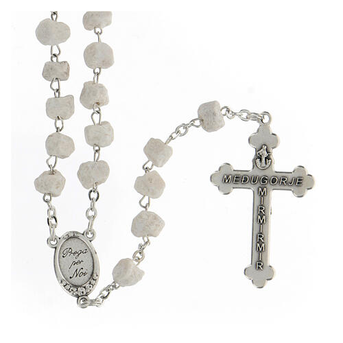 Rosary beads Medjugorje stone Mary and Jesus 2