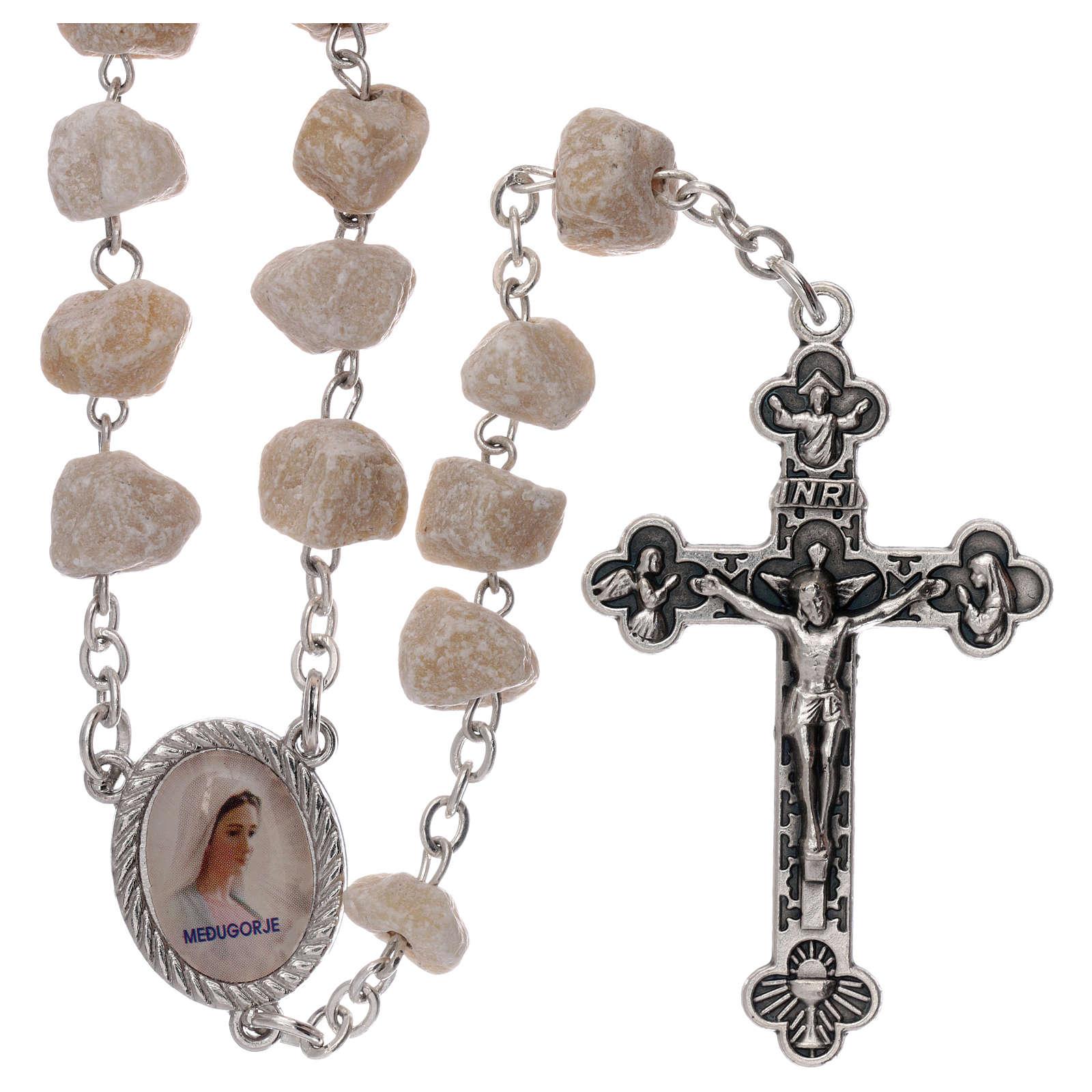 Różaniec Medziugorie kamień Madonna Jezus 4