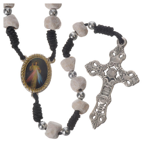Rosary beads Medjugorje stone and string 2