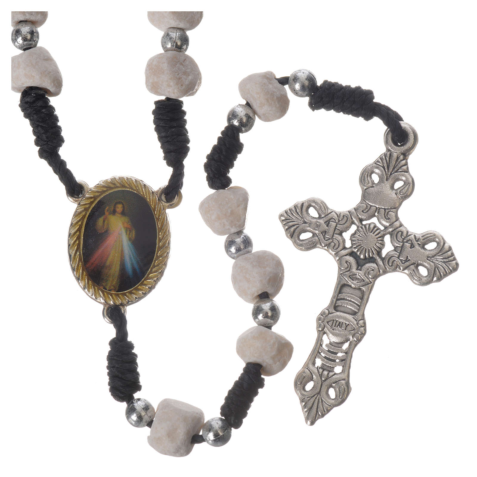 Rosary beads Medjugorje stone and string 4