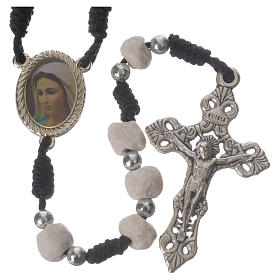 Rosary beads Medjugorje stone and string s1