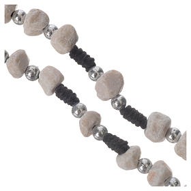 Rosary beads Medjugorje stone and string s3