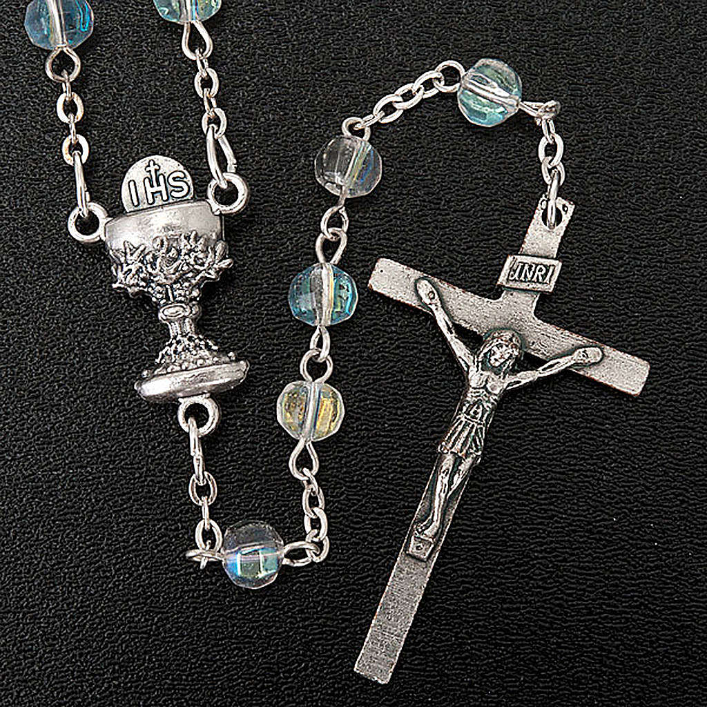First Communion transparent beads rosary 4