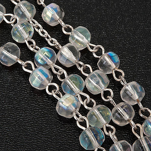 First Communion transparent beads rosary 2