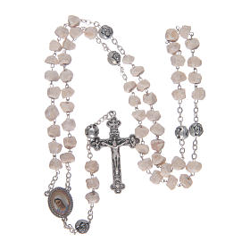 Medjugorje stone rosary with rose-shaped beads s4