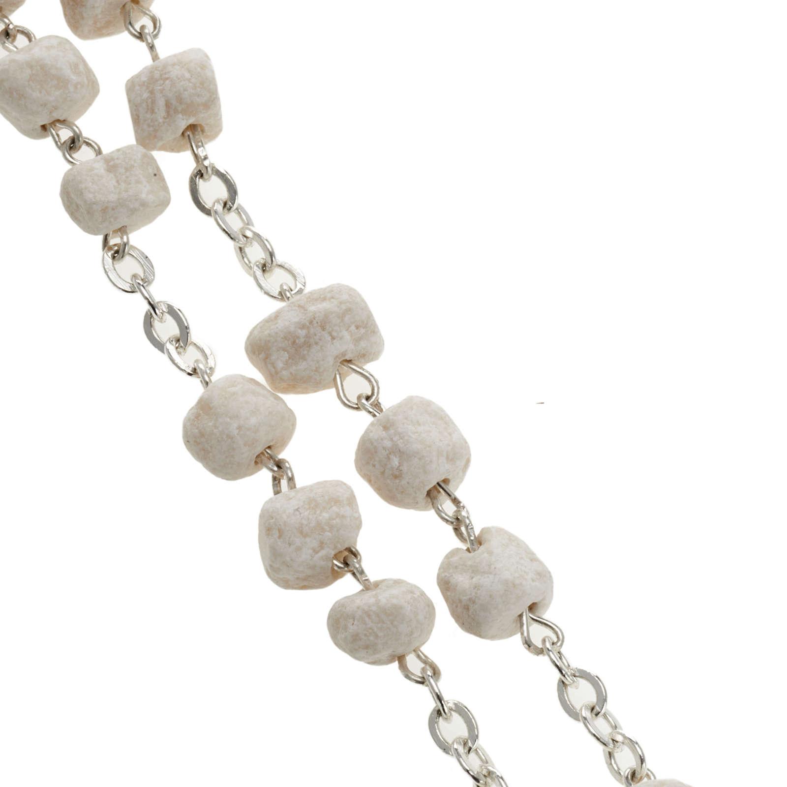 Peace chaplet, Medjugorje, white stone 4