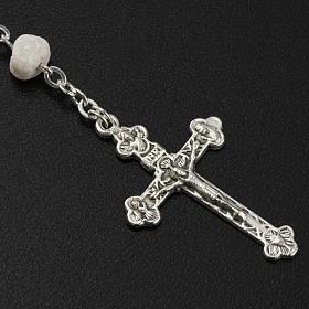 Peace chaplet, Medjugorje, white stone s5