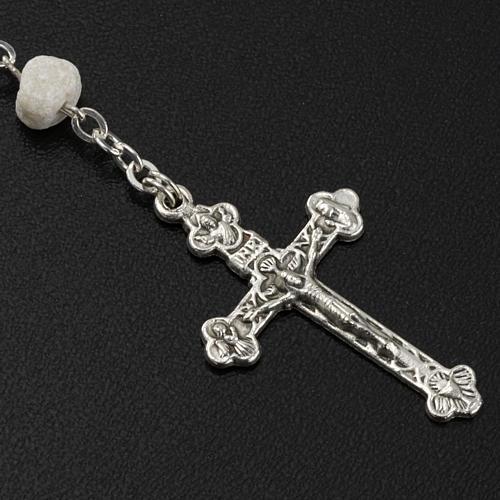 Peace chaplet, Medjugorje, white stone 5