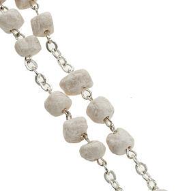 Peace chaplet, Medjugorje, white stone s2
