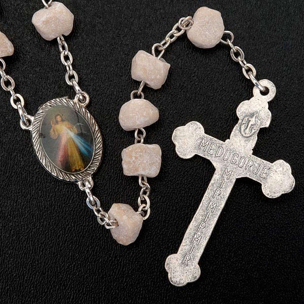 Medjugorje rosary in white stone 4