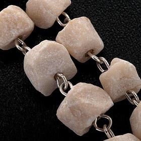 Medjugorje rosary in white stone s4