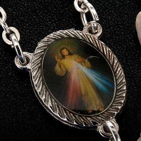 Medjugorje rosary in white stone s2