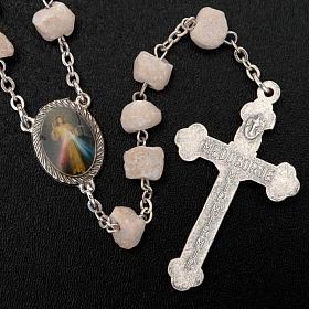 Medjugorje rosary in white stone s3
