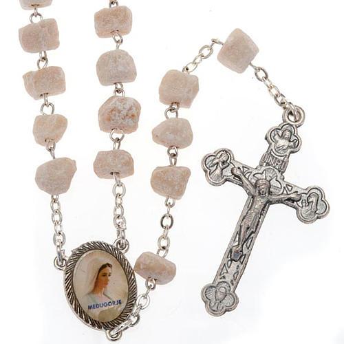 Medjugorje rosary in white stone 1