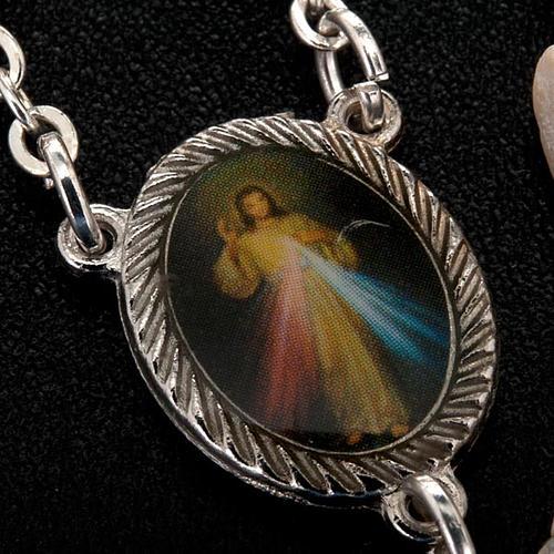 Medjugorje rosary in white stone 2