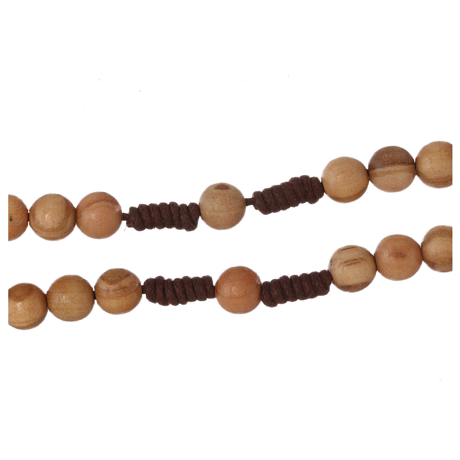 Olive wood  rosary with Tau 4