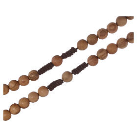 Olive wood  rosary with Tau s6
