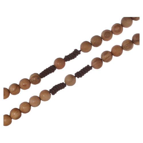 Olive wood  rosary with Tau 6