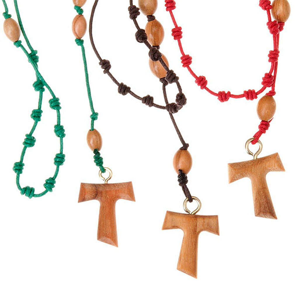 Coloured knots rosary 4
