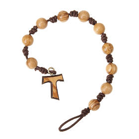 Olive wood ten beads with tau s1