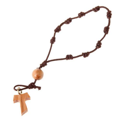 Ten beads rosary tau knots 1