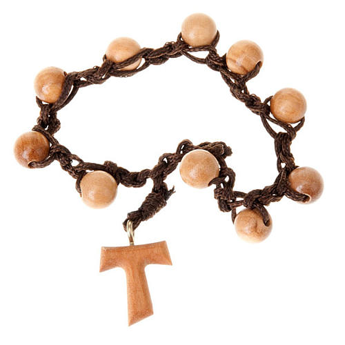 Ten beads rosary braided tau 1