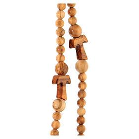 Collana rosario tau cinque decine grani 5 mm legno Assisi