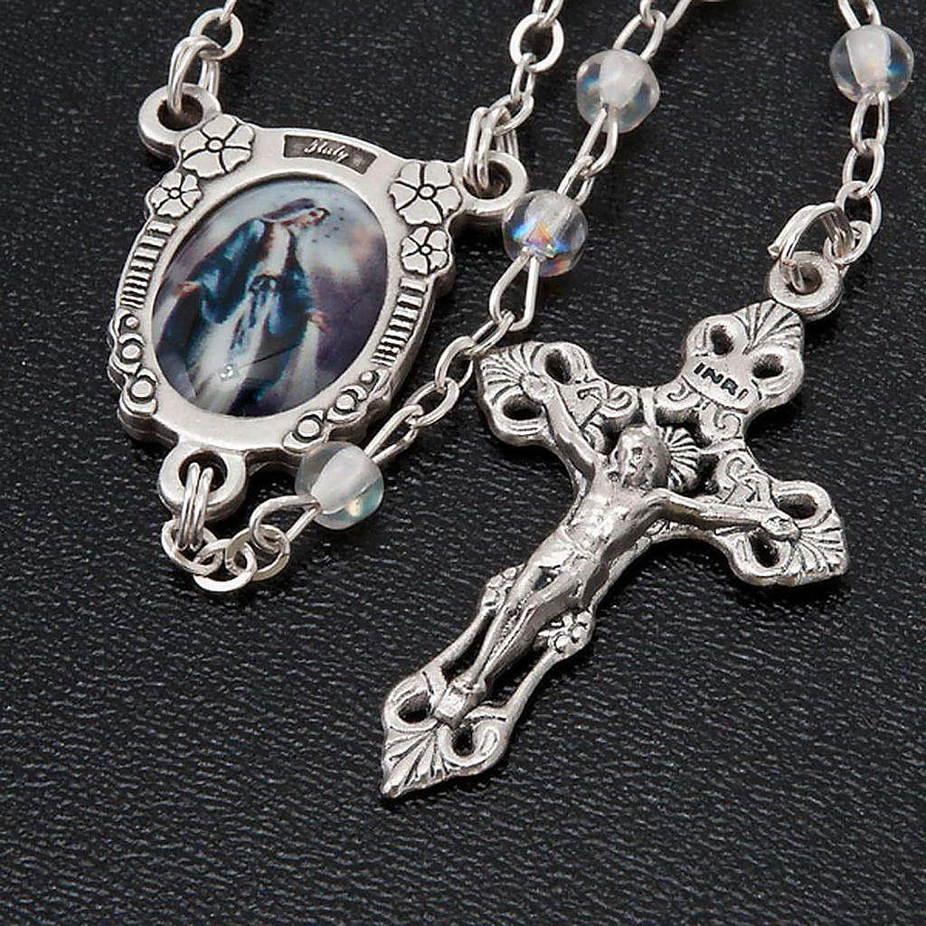 Rosario semi-cristal Virgen Milagrosa 4