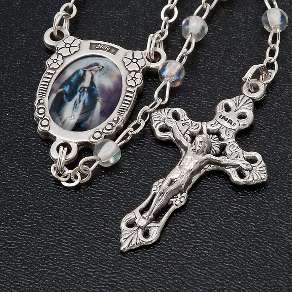 Crystal effect rosary Miraculous medal 4