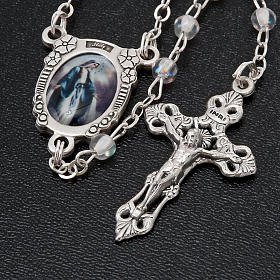 Crystal effect rosary Miraculous medal s3