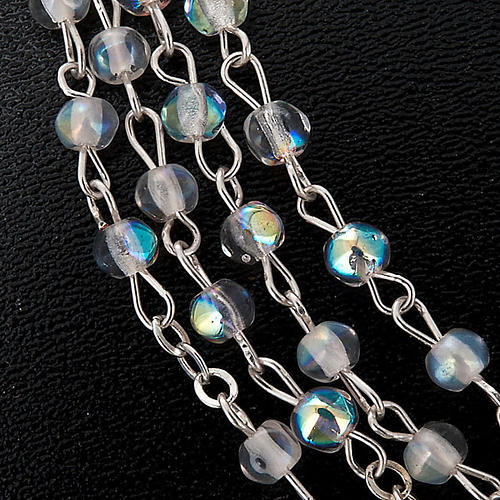 Crystal effect rosary Miraculous medal 2