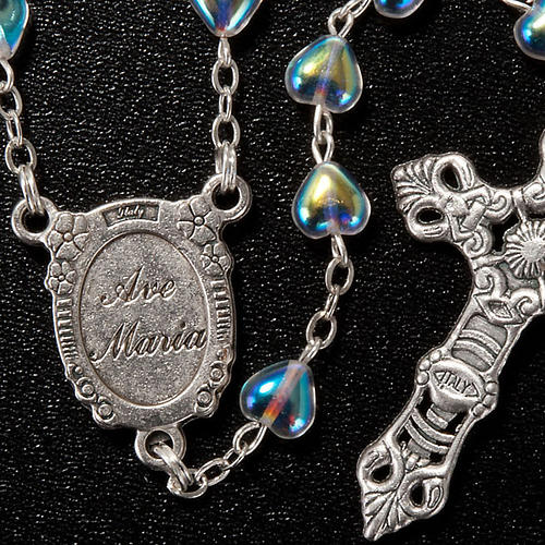 Rosario de vidrio corazón Virgen Milagrosa 3