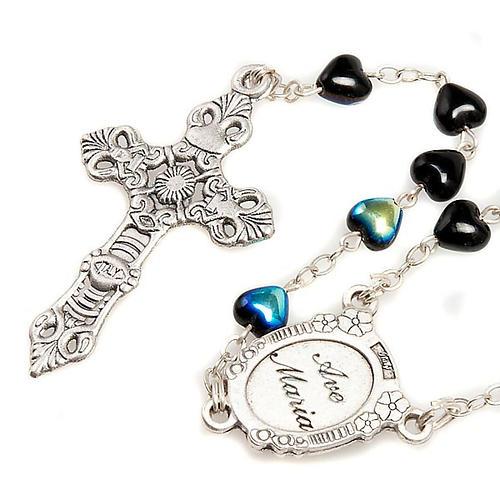Rosario de vidrio nero Virgen Milagrosa 2