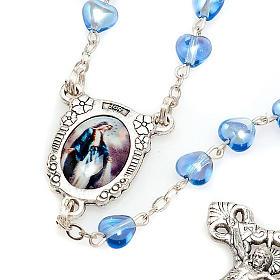 Rosario de vidrio azul Virgen Milagrosa s4