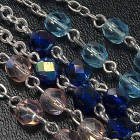 Rosario vetro Madonna di Gonare blu turchese rosa s3