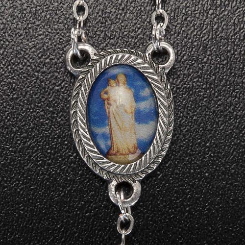 Rosario vetro Madonna di Gonare blu turchese rosa 5