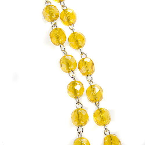 Yellow rosary in half crystal 5 mm 9