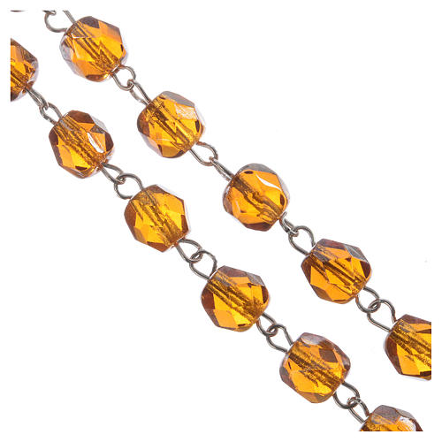 Yellow rosary in half crystal 5 mm 7