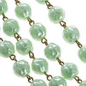 Rosario vidrio rositas verde 6mm s2