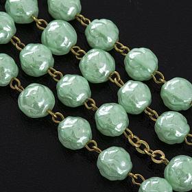 Rosario vidrio rositas verde 6mm s5