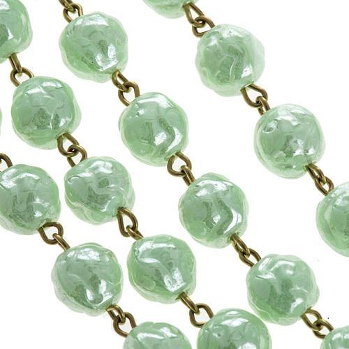 Rosario vidrio rositas verde 6mm 2
