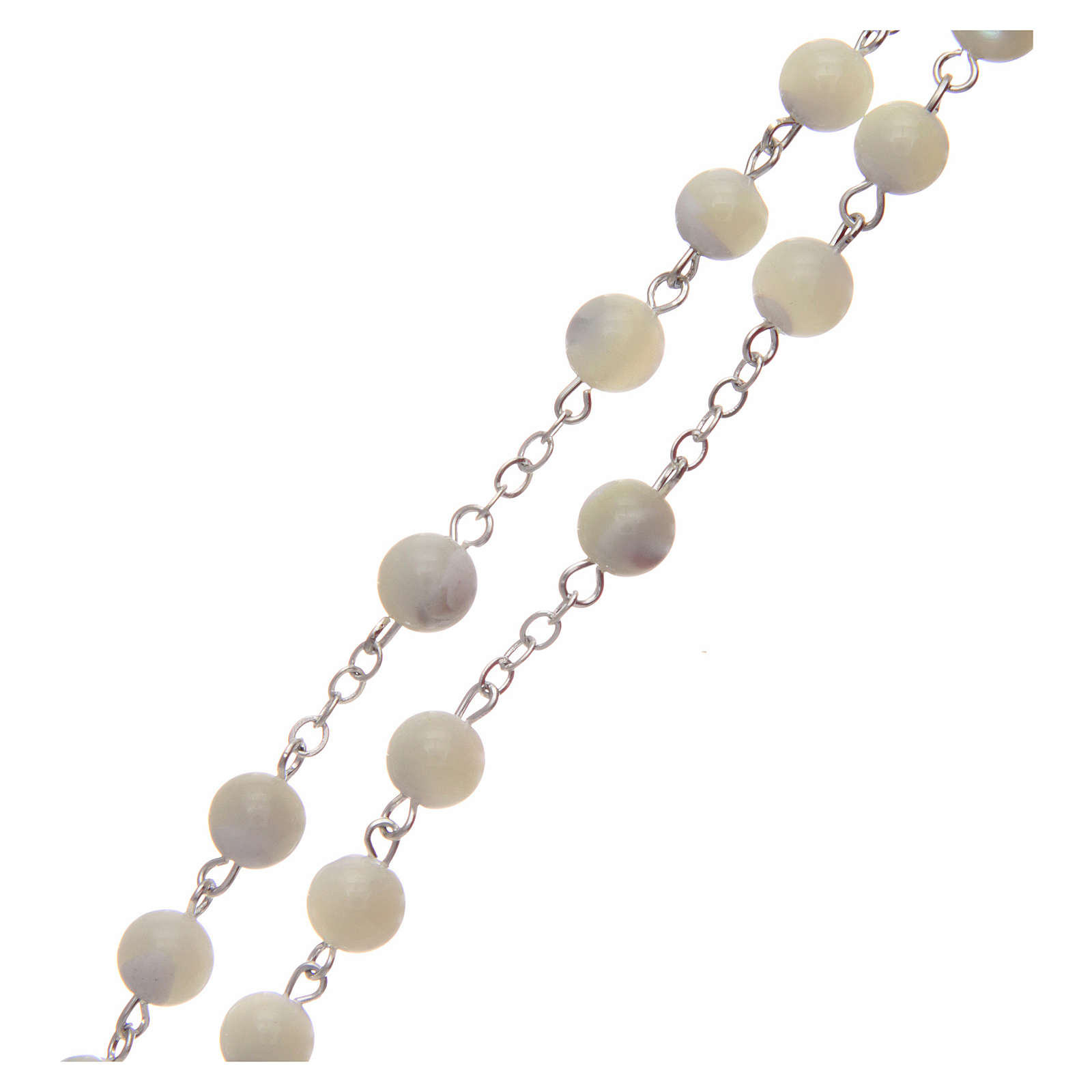 Rosary in imitation crystal, green colour 6mm 4